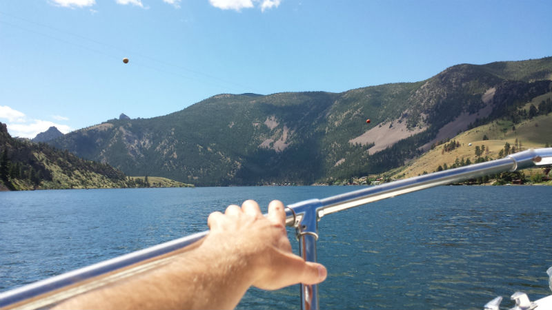 Boating on Holter Lake Montana