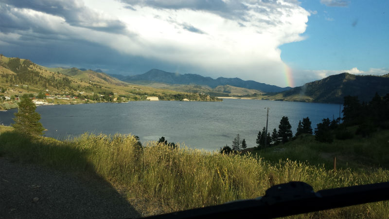Holter Lake Montana from Hill